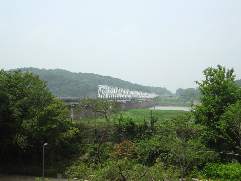 The Freedom Bridge, where the two Koreas exchanged prisoners.