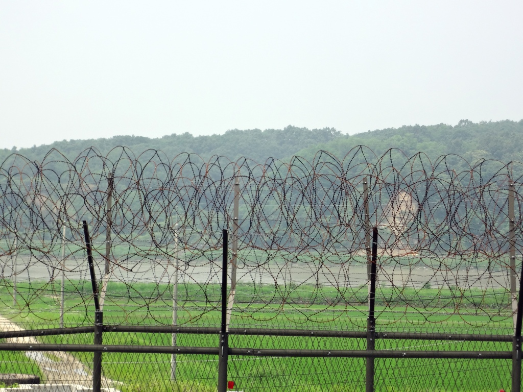 Part of the DMZ fence.