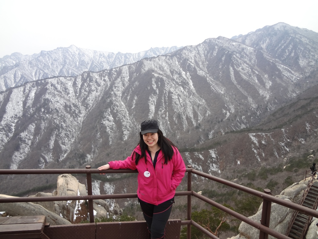 At the Ulsanbawi peak. Hurray!